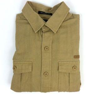 Linen Blend Button Up Shirt